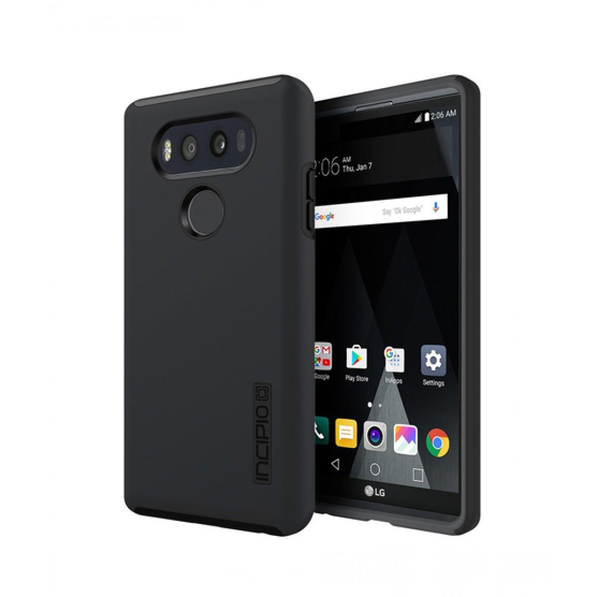 brand new 1bc27 a14d5 Incipio DualPro Black/Black Hard Shell Case For LG V20