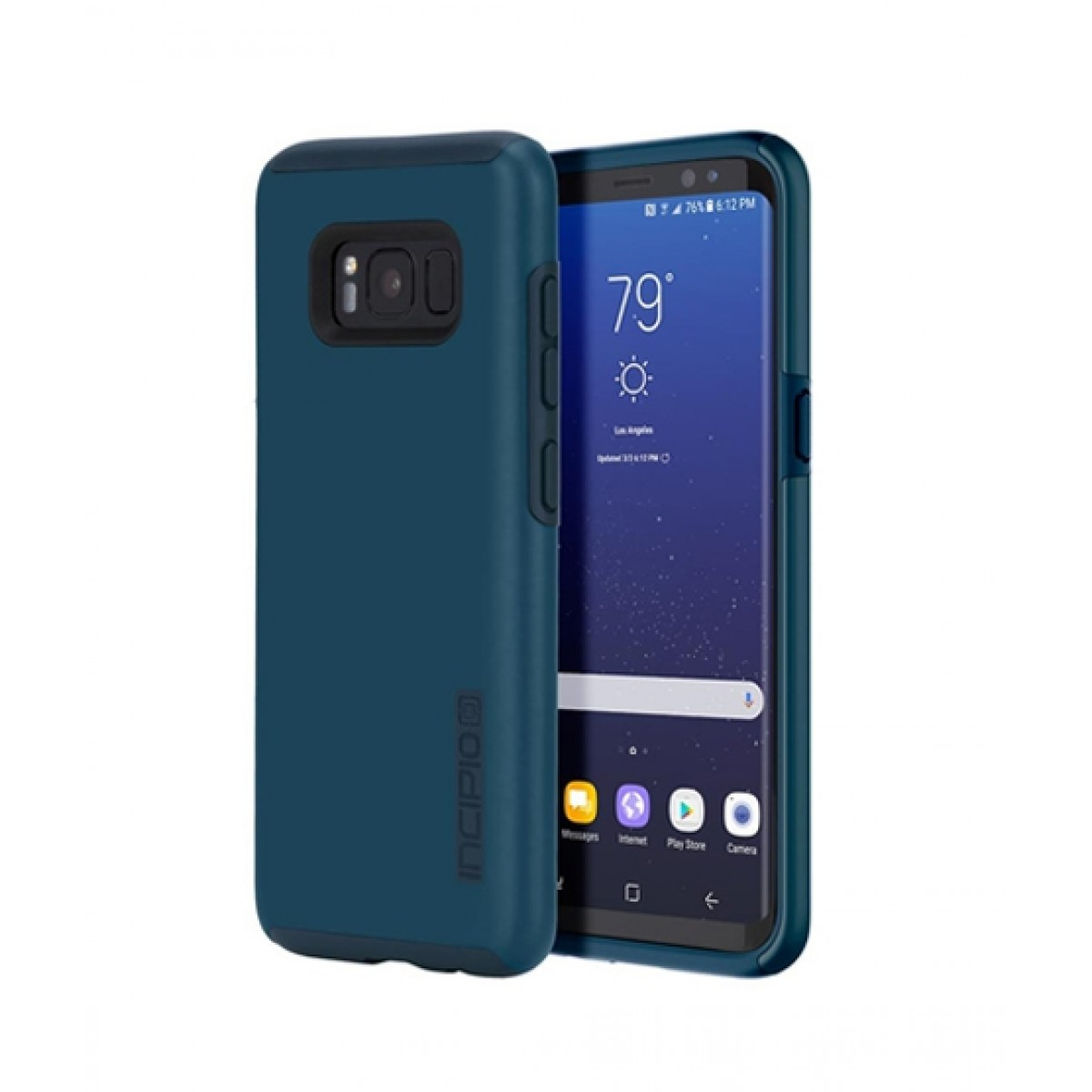 check out ac22e 6b204 Incipio DualPro Deep Navy Case For Galaxy S8