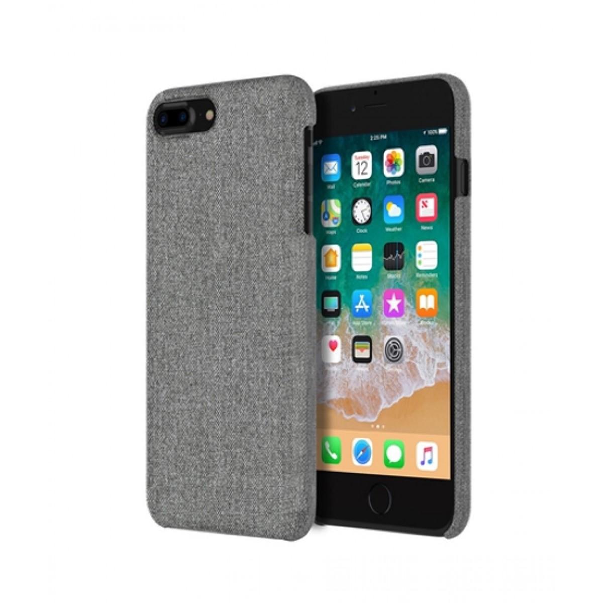 promo code 50998 cb5e7 Incipio Esquire Slim Gray Fabric Case For iPhone 8 Plus