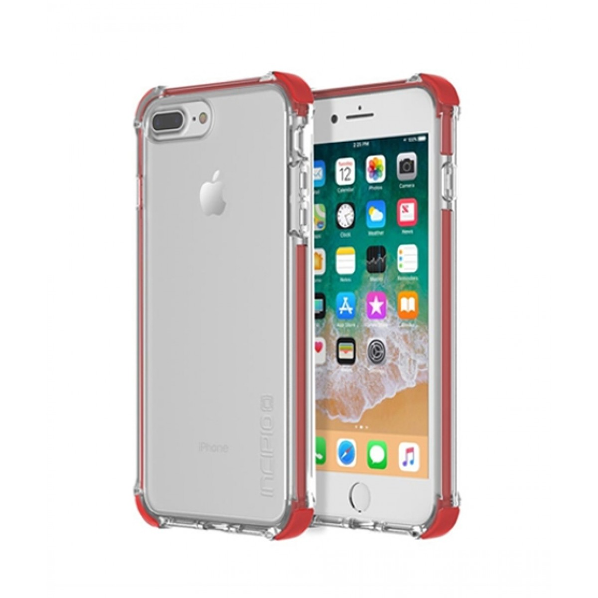 timeless design db688 a8469 Incipio Reprieve Sport Red/Clear Case For iPhone 8 Plus