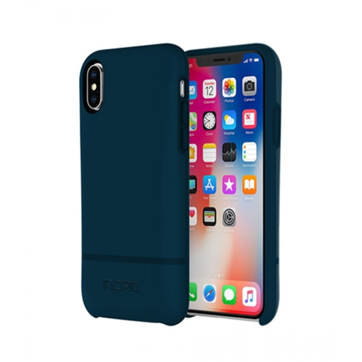 best service 4ef1e 57b93 Incipio Stashback Credit Card Navy Case For iPhone X/XS