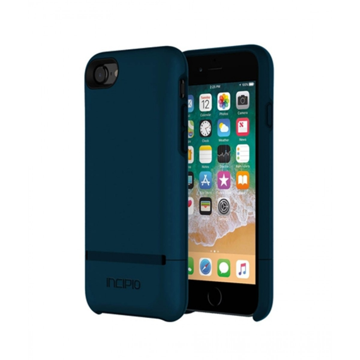 check out 98236 64deb Incipio Stashback Dockable Credit Card Navy Case For iPhone 8