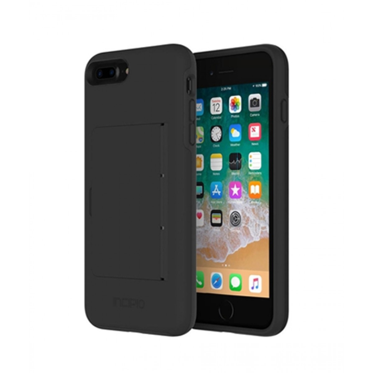 size 40 e3139 34401 Incipio Stowaway Credit Card Black Case For iPhone 8 Plus