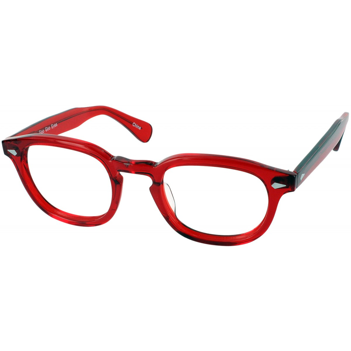 Goo Goo Eyes 819 Single Vision Full Frame - Red Crystal