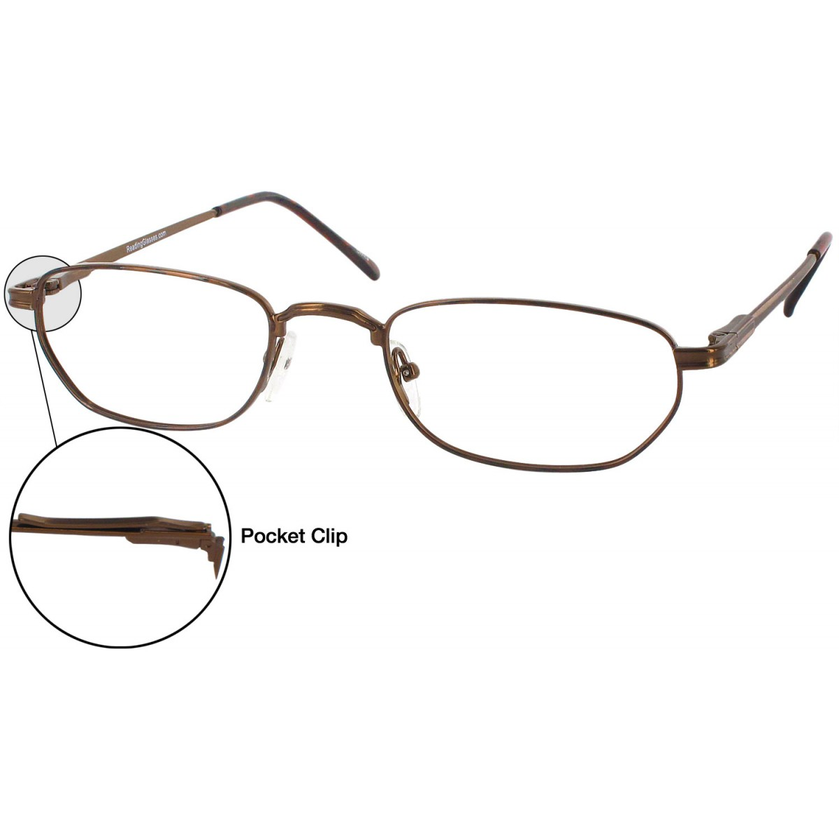 25d02c6417d ReadingGlasses Classic Clip Single Vision Half Frame Bronze Price in  Pakistan