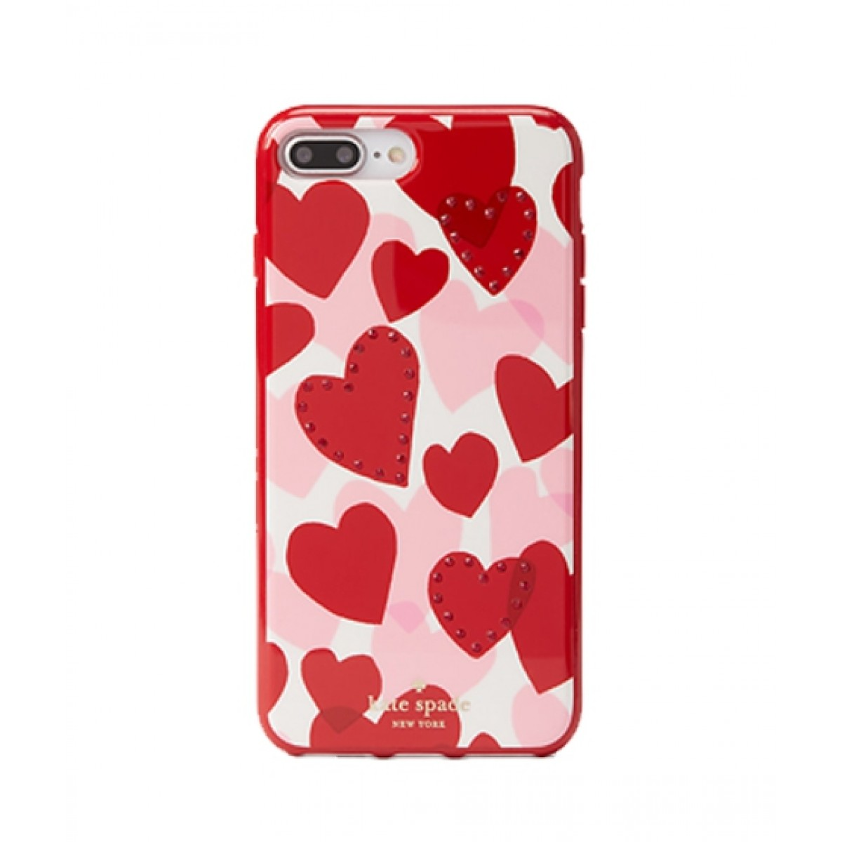 cheap for discount 1b50b 1abf3 Kate Spade Jeweled Heart Red Multi Case For iPhone 8 Plus