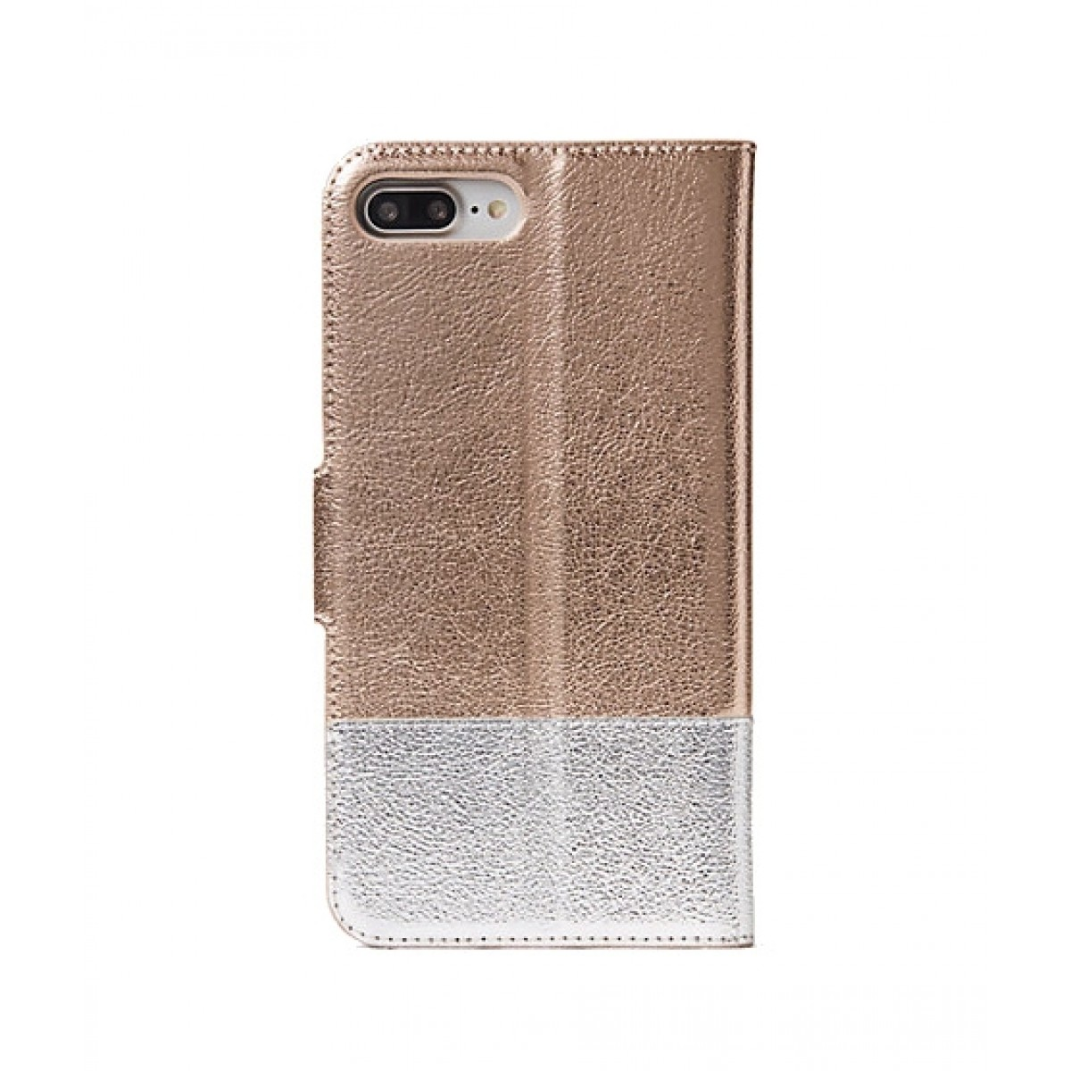 Kate Spade Metallic Wrap Folio Rose Gold/Silver Case For iPhone 8 Plus