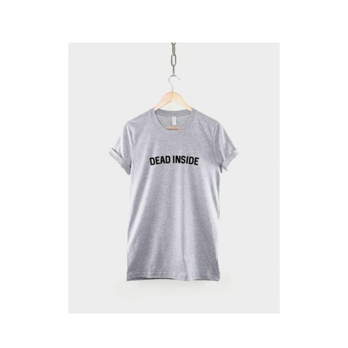 Khanani's Printed T-Shirt For Unisex Grey (0095)