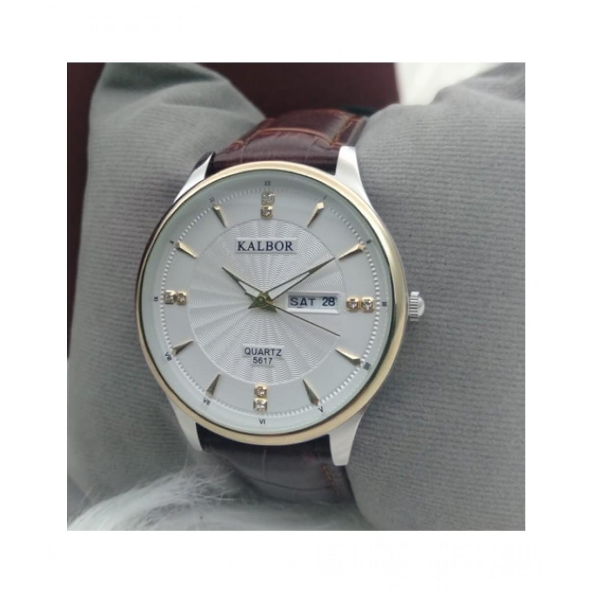 KK Accessories Kalbor Analog Watch For Men Brown (BGI1-0293)