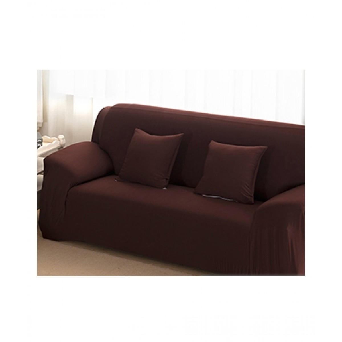 Knit that Fits 5 Seater Sofa Cover - Brown