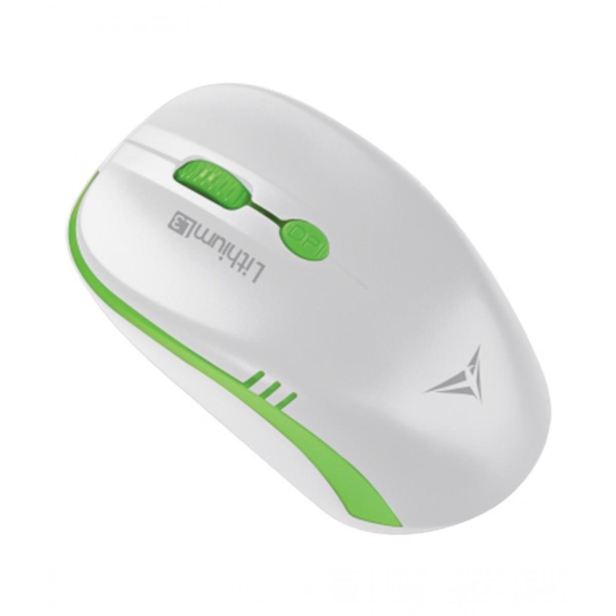 Alcatroz Lithium L3 Wireless Mouse White/Green