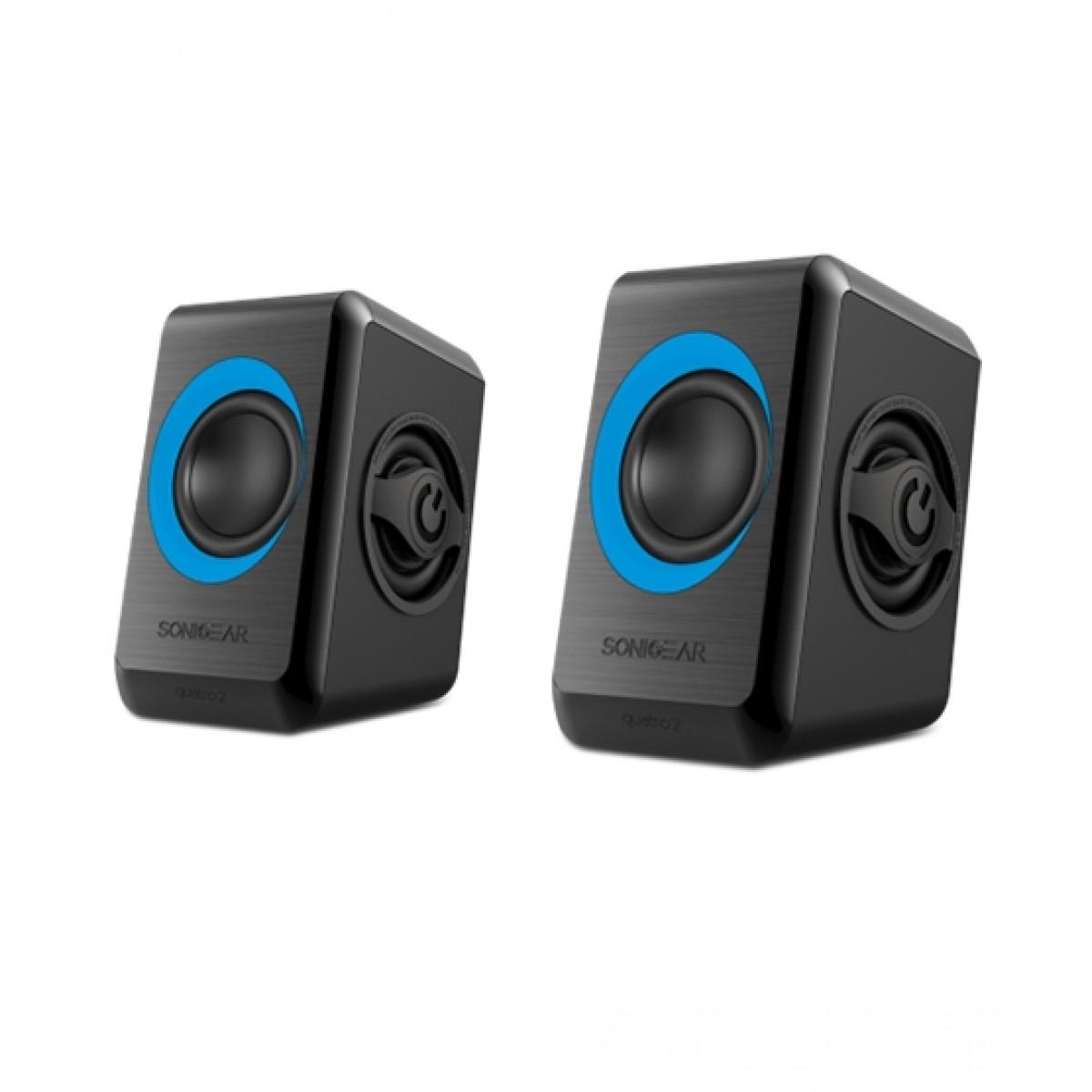 SonicGear Quatro 2 Speakers Black/Turquila