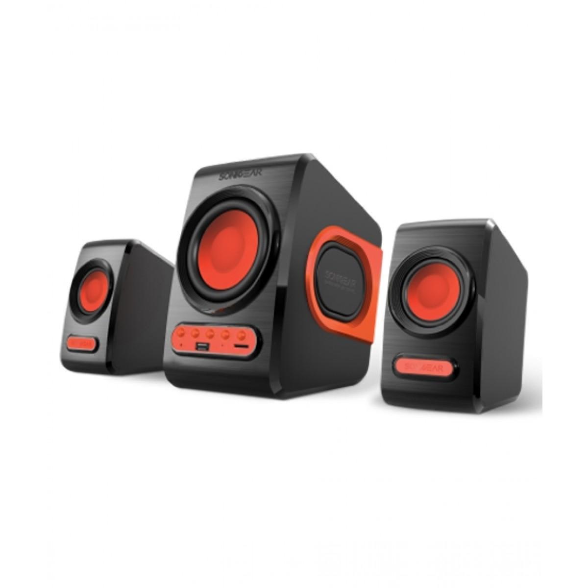 SonicGear Quatro V Speakers Black/Red