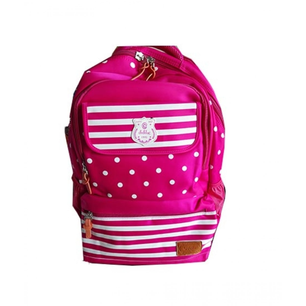 M Toys Polka Dot School Bag For Kids Pink (0916)
