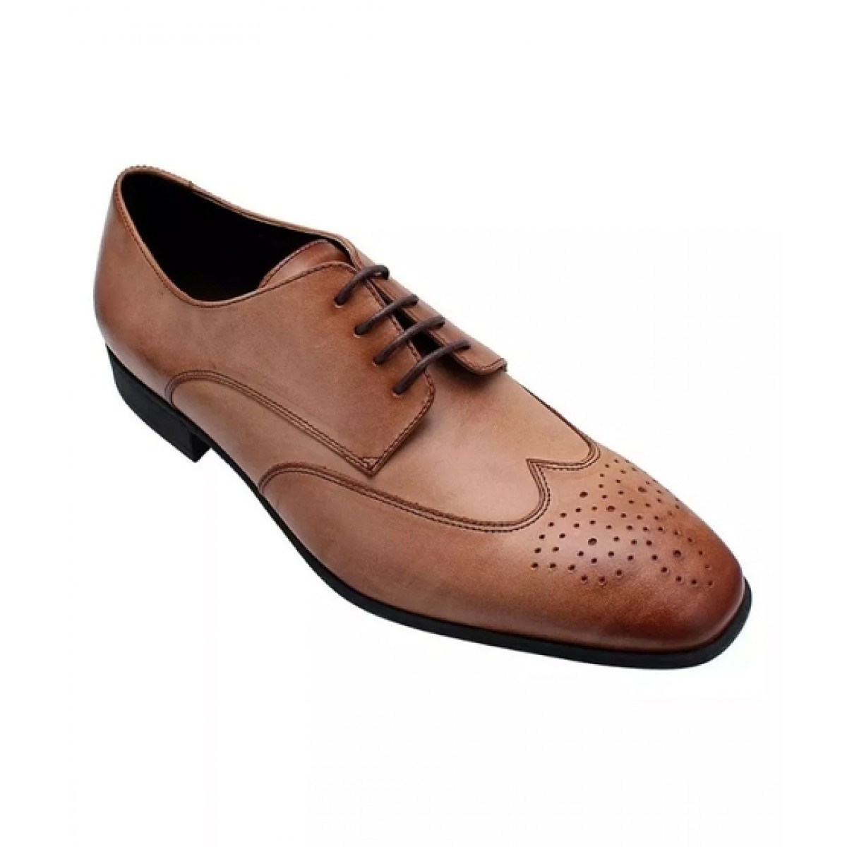 Marc Kessler Formal Wingtip Brogue Derby Shoes For Men Cream (MK-SM-0006)