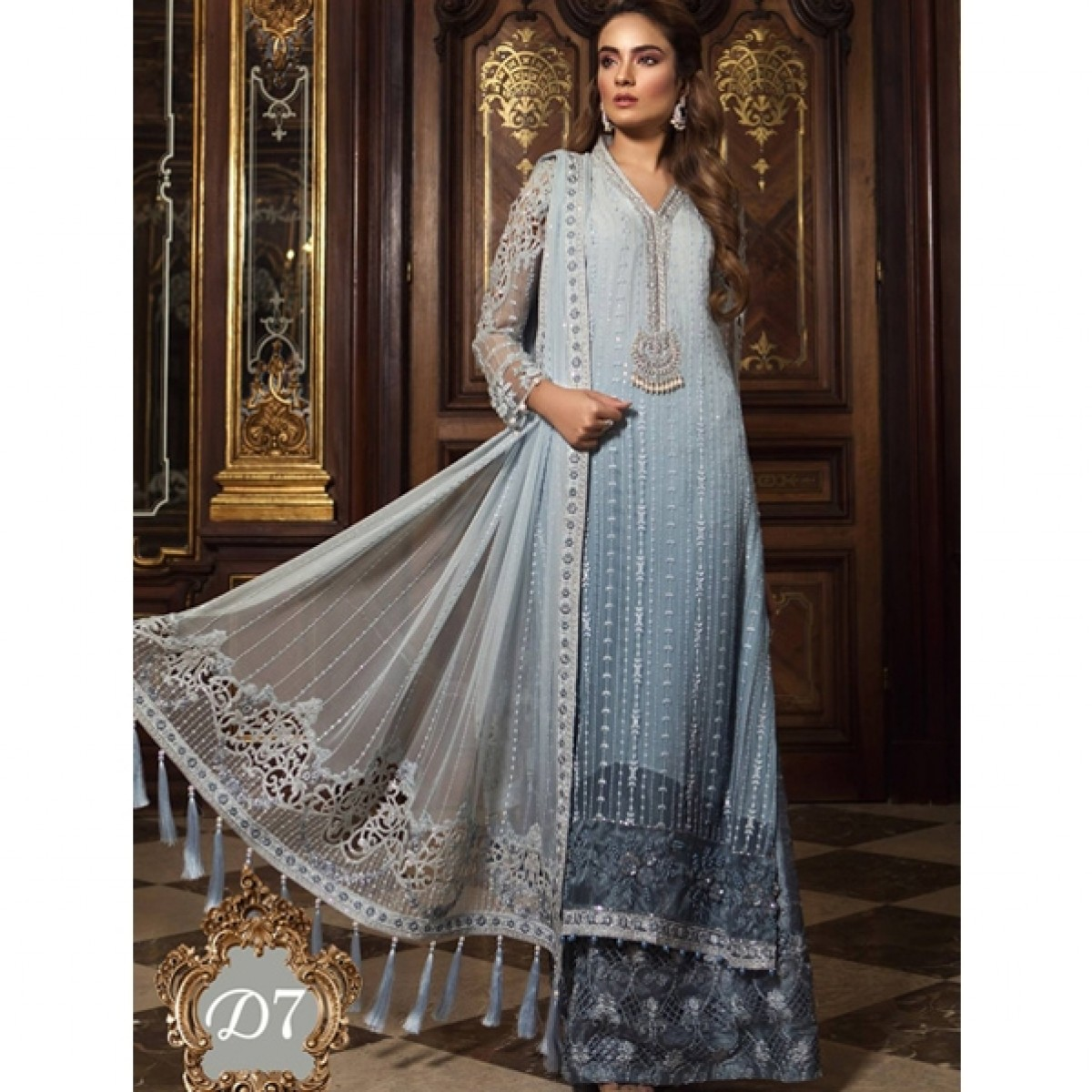 420fbbb350 B. Mbroidered Wedding Edition 2019 (D7) Price in Pakistan | Buy Maria.B. Mbroidered  Wedding Edition 3 Piece | iShopping.pk
