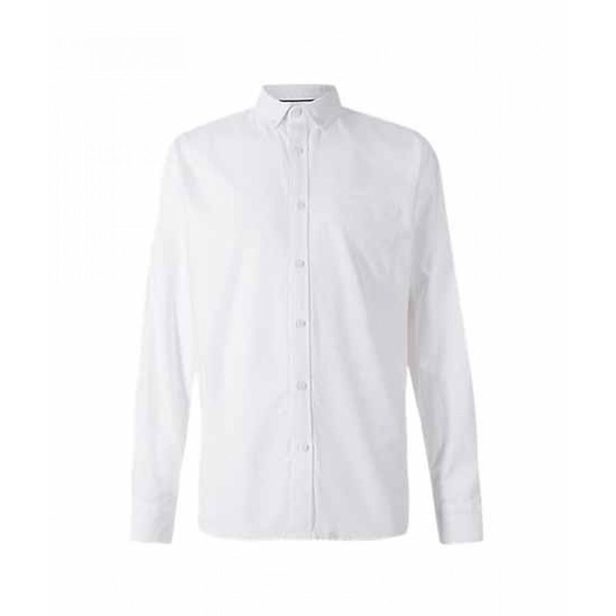 2d1f5748378 Marks   Spencer Plain Oxford Men s Shirt White Mix (T253201M)