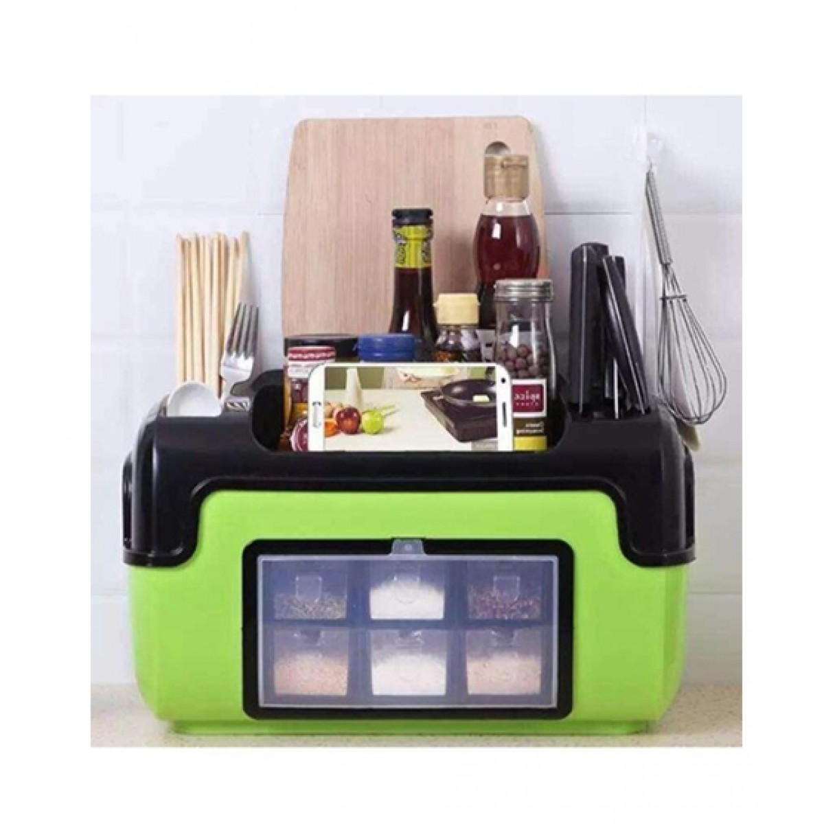 Mart89 Spice & Cutlery Organizer - Green
