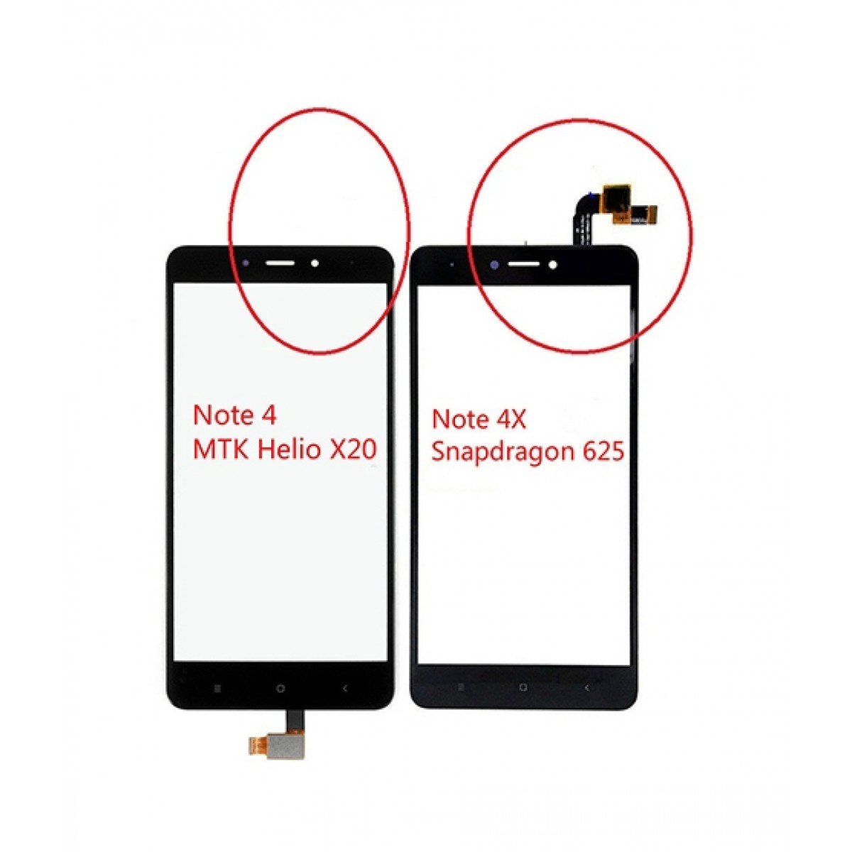 Mehria Store LCD Display Frame with Touch Screen For Redmi Note 4