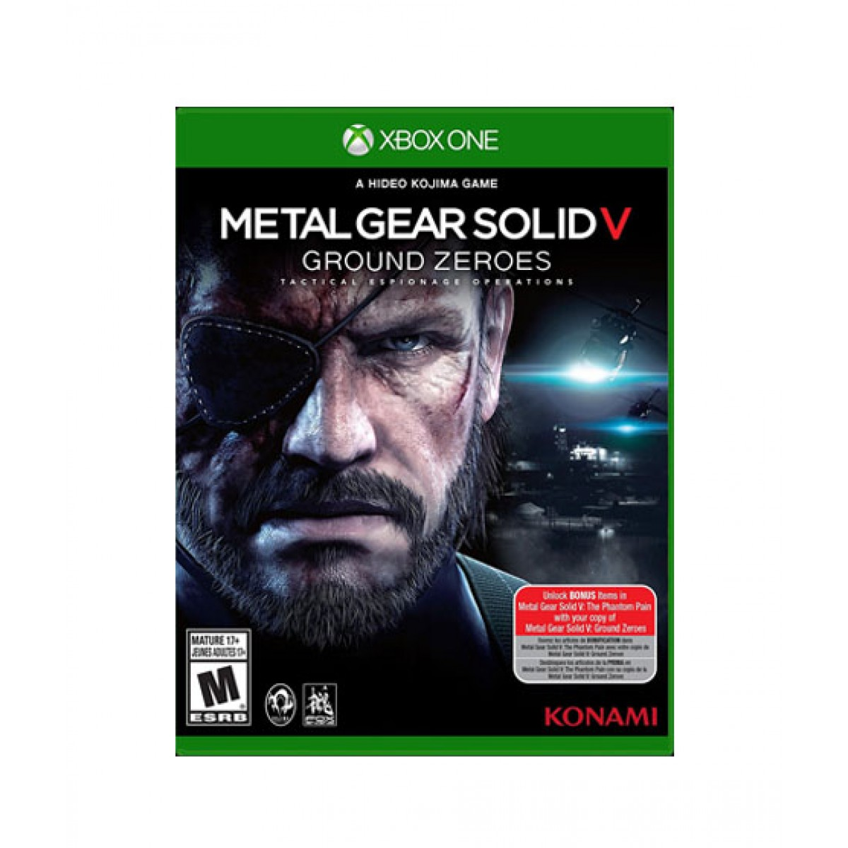 Metal Gear Solid V Ground Zeroes Game For Xbox One