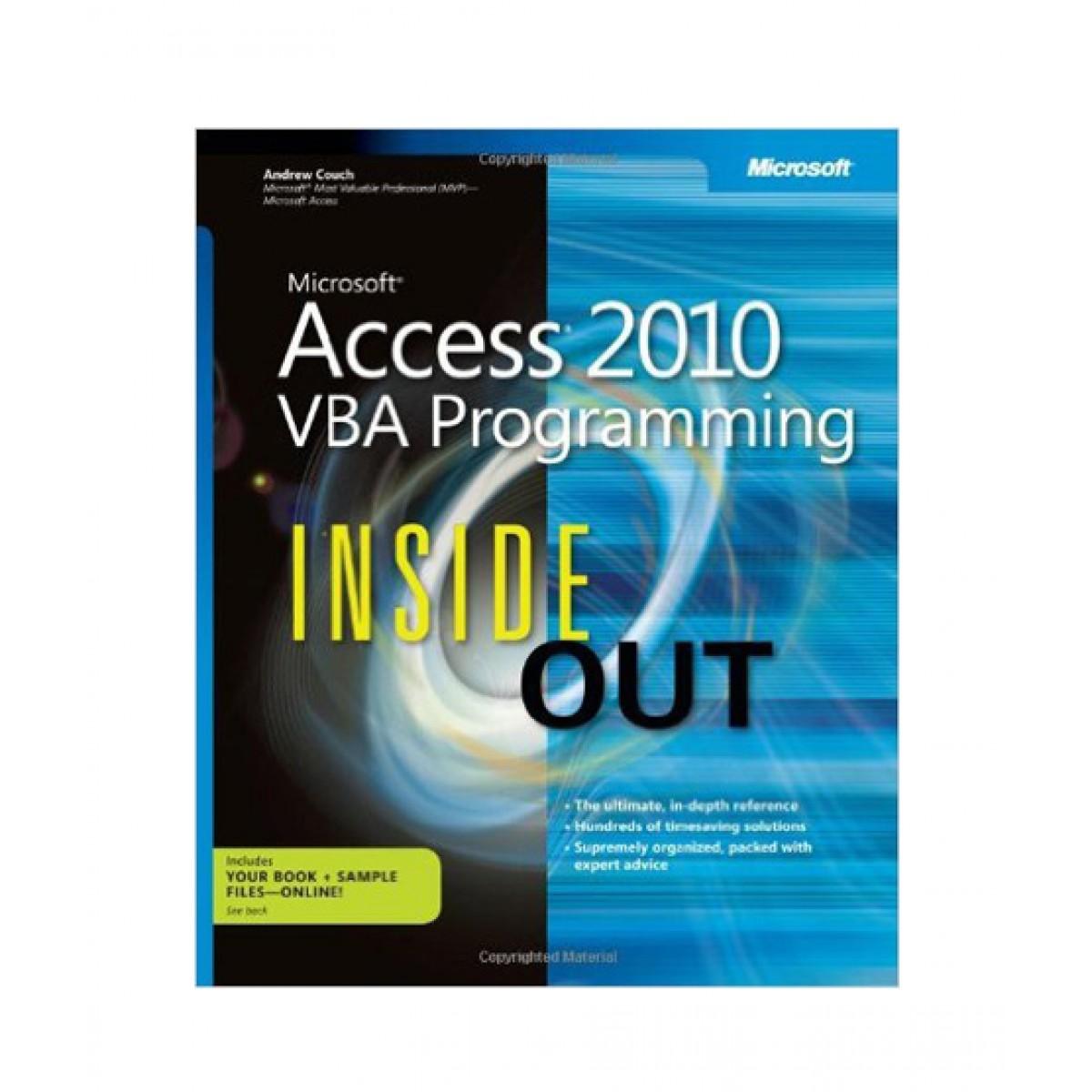 Microsoft Access 2010 VBA Programming Inside Out