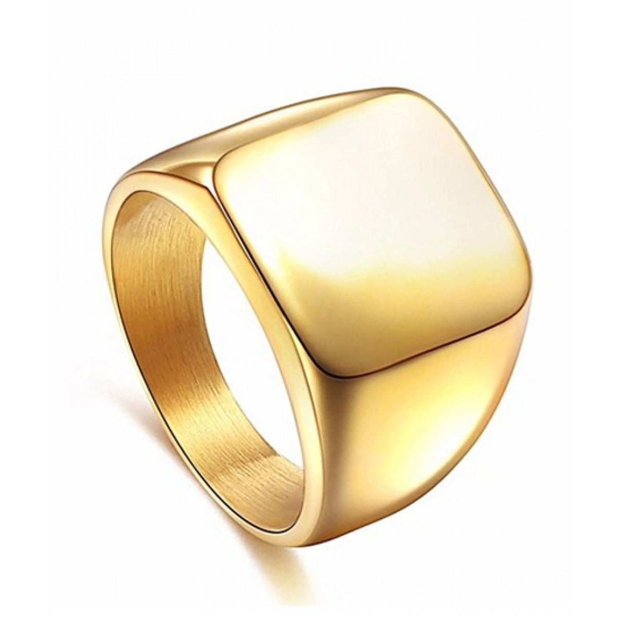 6ad4e92c4 MM Mart Jewellers Steel Gold Ring For Men Price in Pakistan | Buy MM Mart  Jewellers Titanium Steel Gold Ring For Men (1042) | iShopping.pk