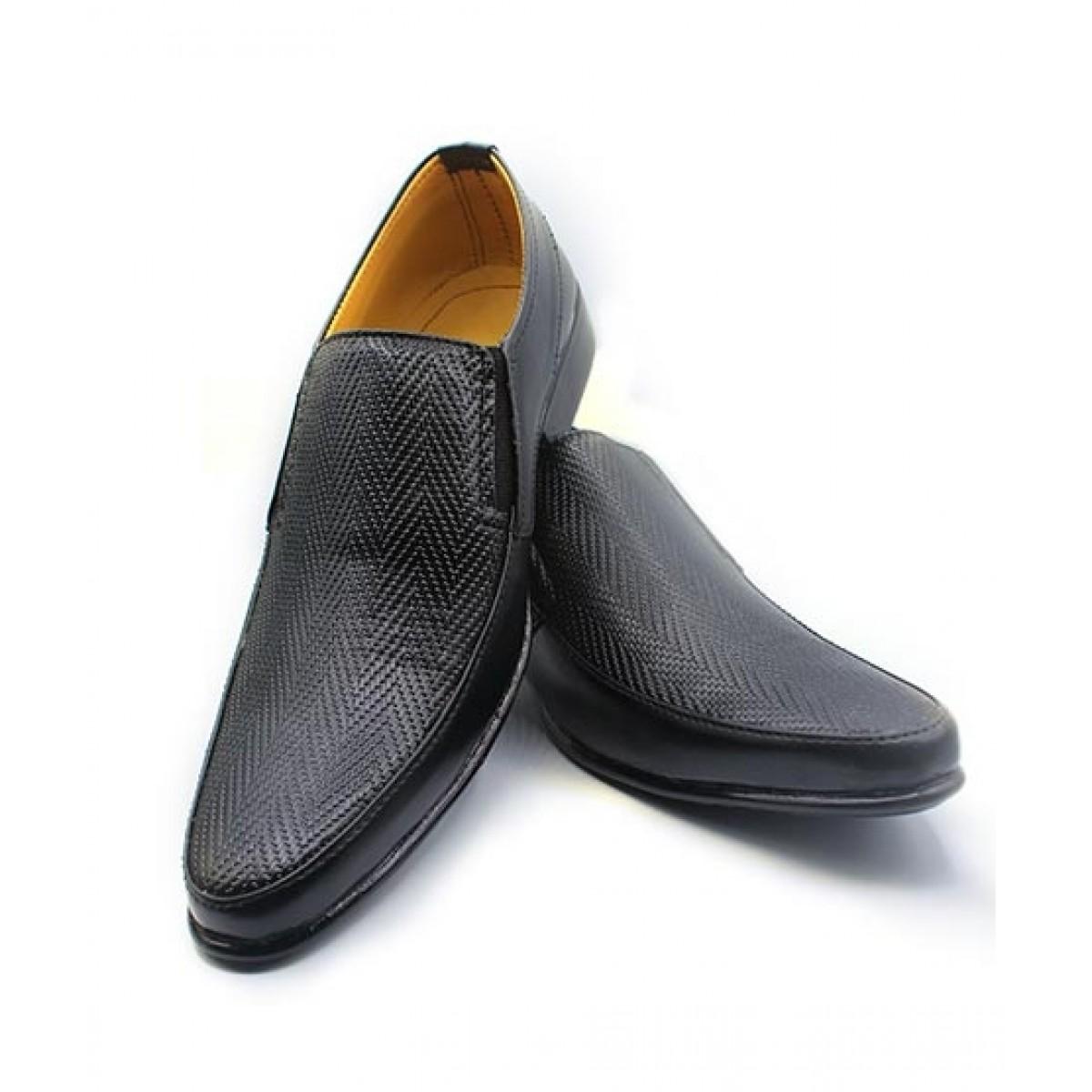 MOZAX Formal Shoes For Men Black (BLK-0005)