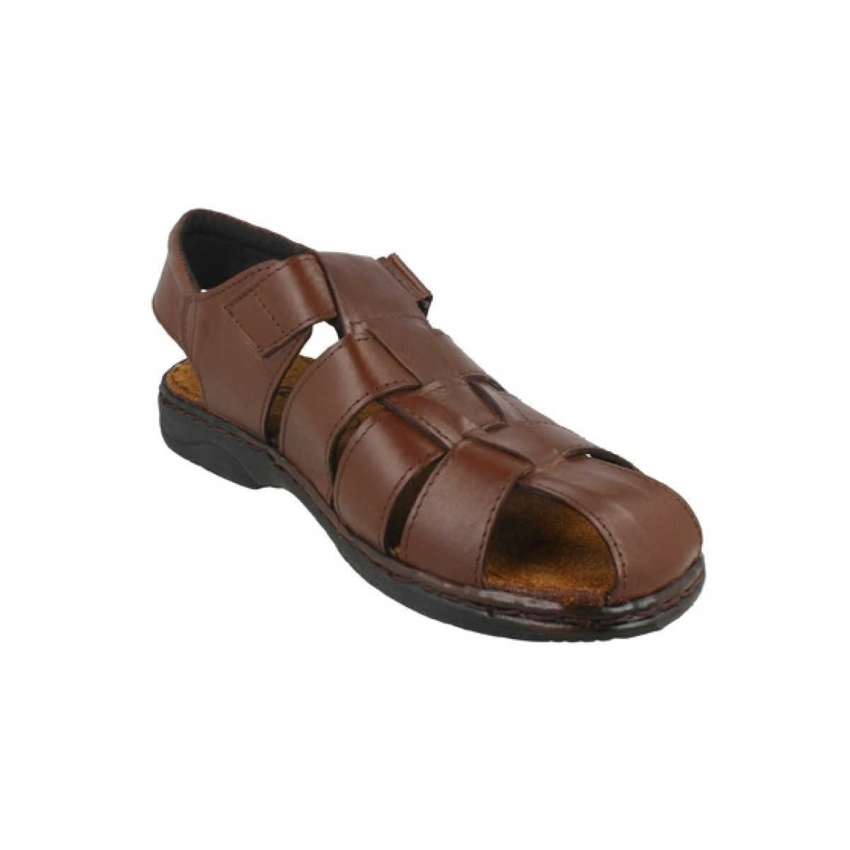 MOZAX Casual Leather Sandal For Men Brown (0004)