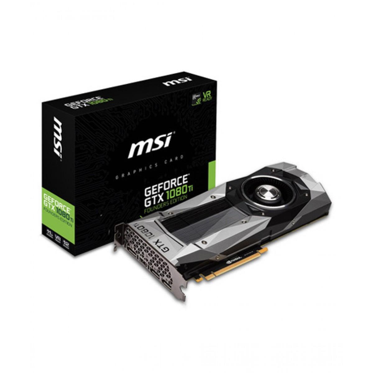 MSI GeForce GTX 1080 Ti Founders Edition 11GB GDDR5X Graphics Card