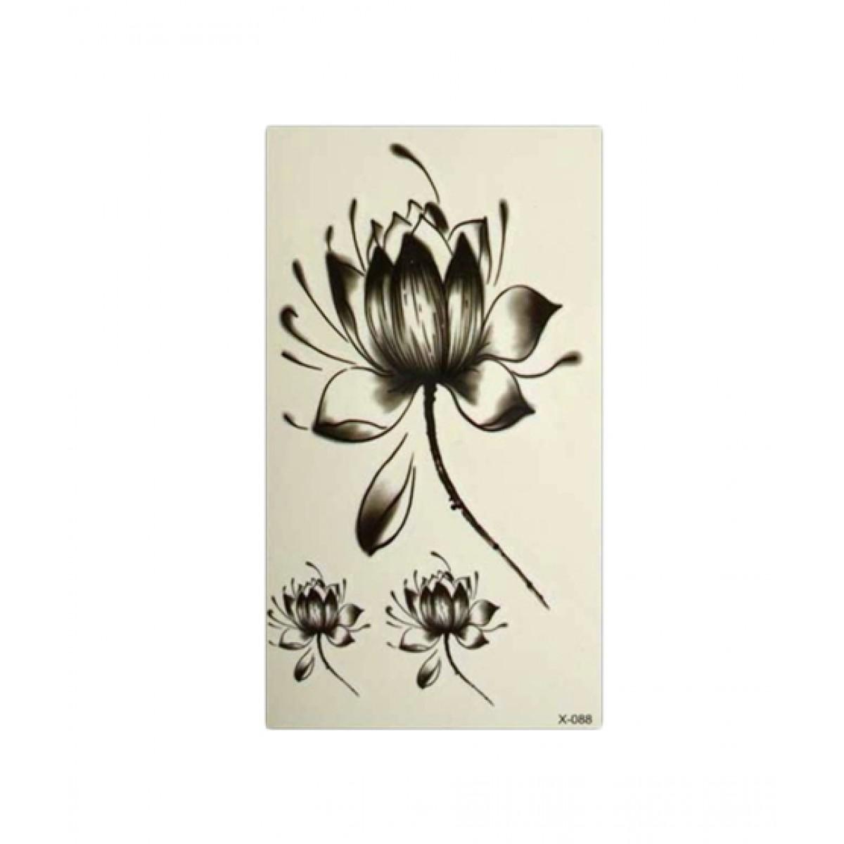 Water Lily Lotus Flower Tattoos Stickers Price In Pakistan Buy