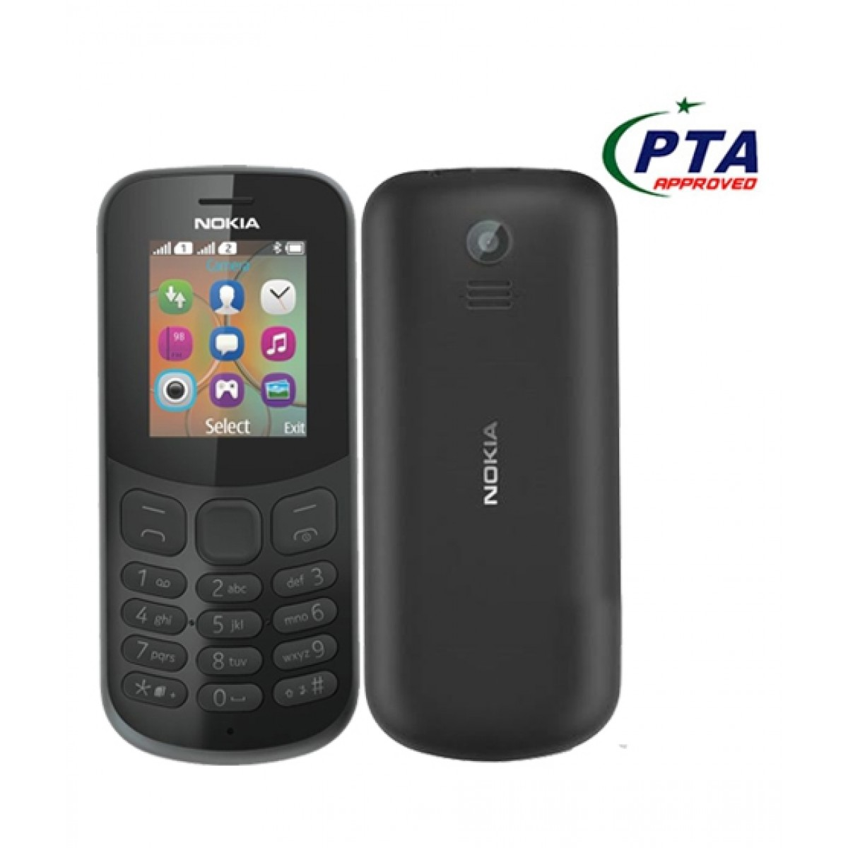 eb2c9fbd7265e Nokia 130 2017 Price in Pakistan | Buy Nokia 130 2017 Dual Sim Black -  Official Warranty | iShopping.pk