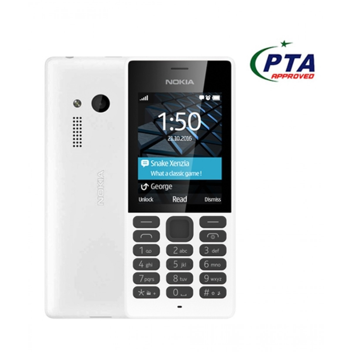 Nokia 150 – Dual Sim – Camera – Card Slot – White