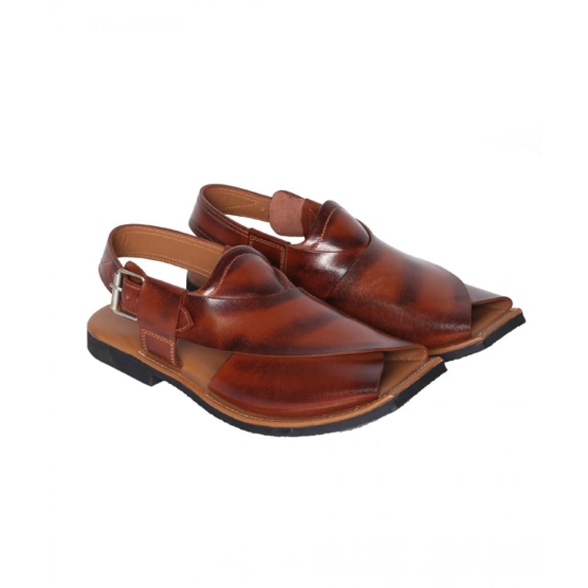 NOVADO Ajab Khan Leather Peshawari Sandal For Men Cognac (0048)