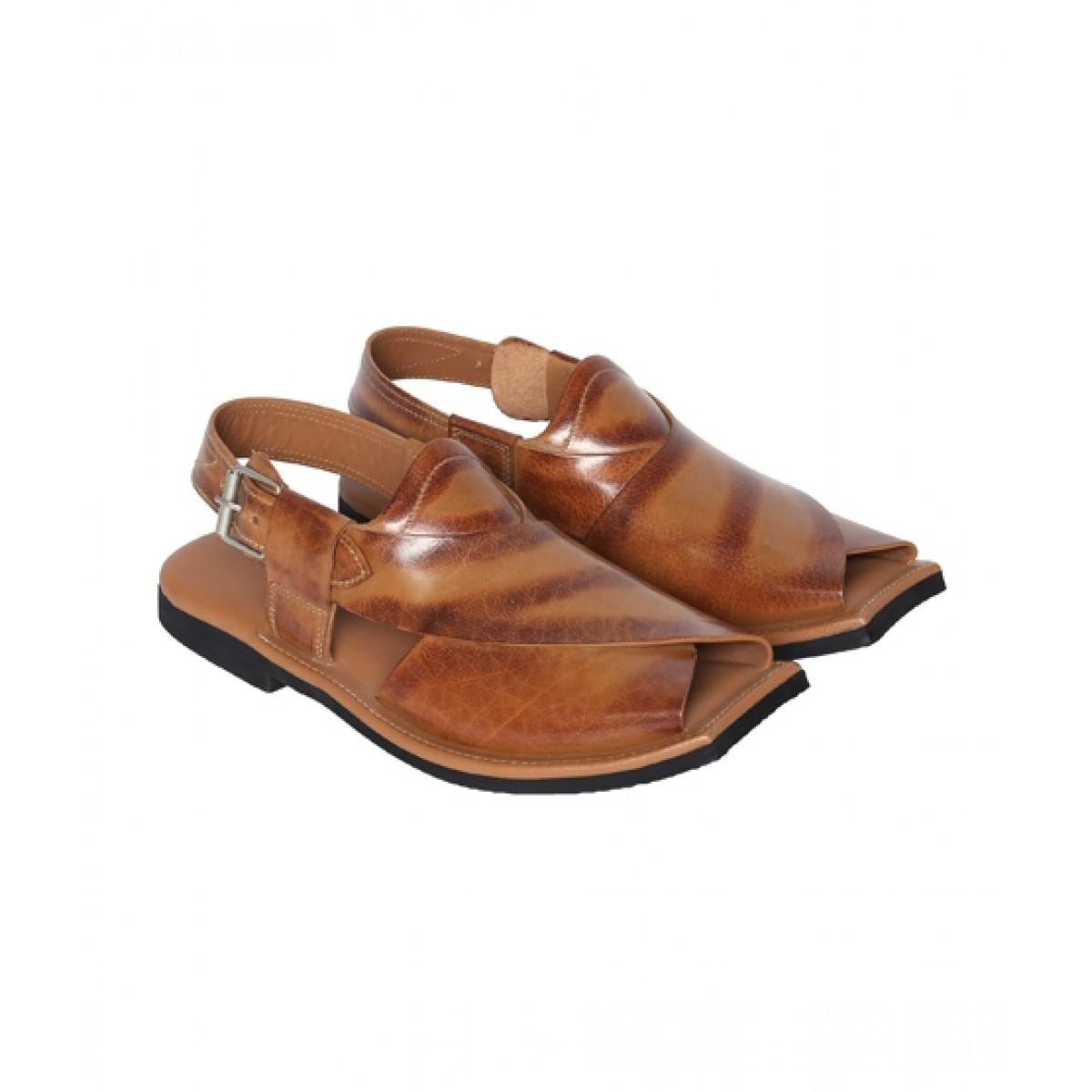NOVADO Ajab Khan Leather Peshawari Sandal For Men Tan (0047)