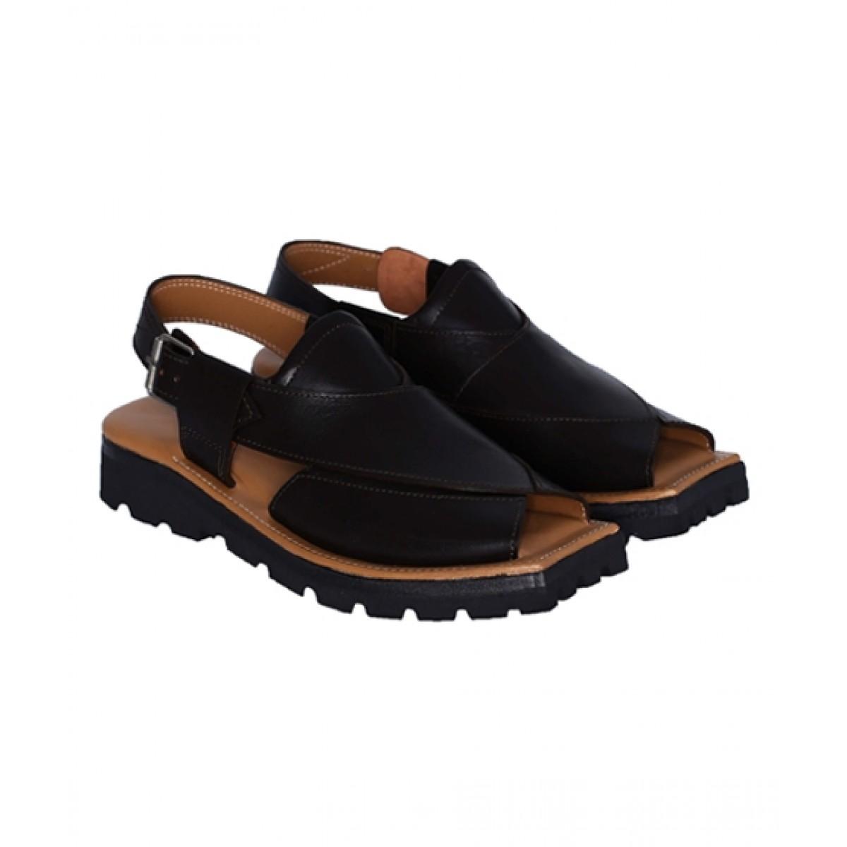 NOVADO Kaptaan Leather Peshawari Sandal For Men Choco Brown (0043)