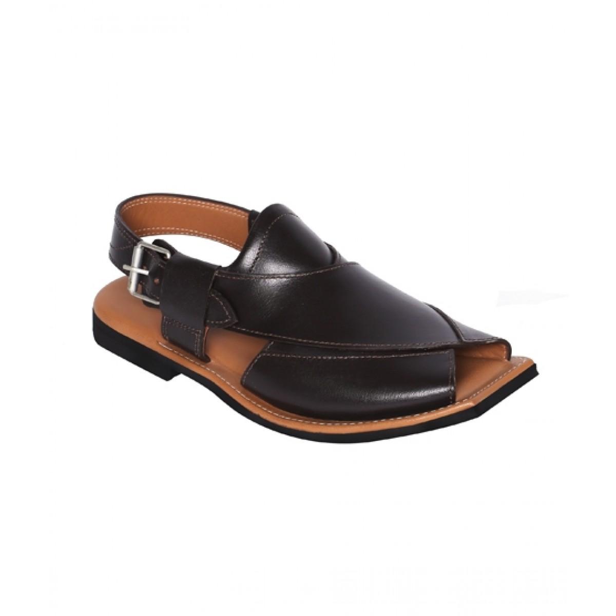 NOVADO Masti Khan Leather Peshawari Sandal For Men Choco Brown (0049)