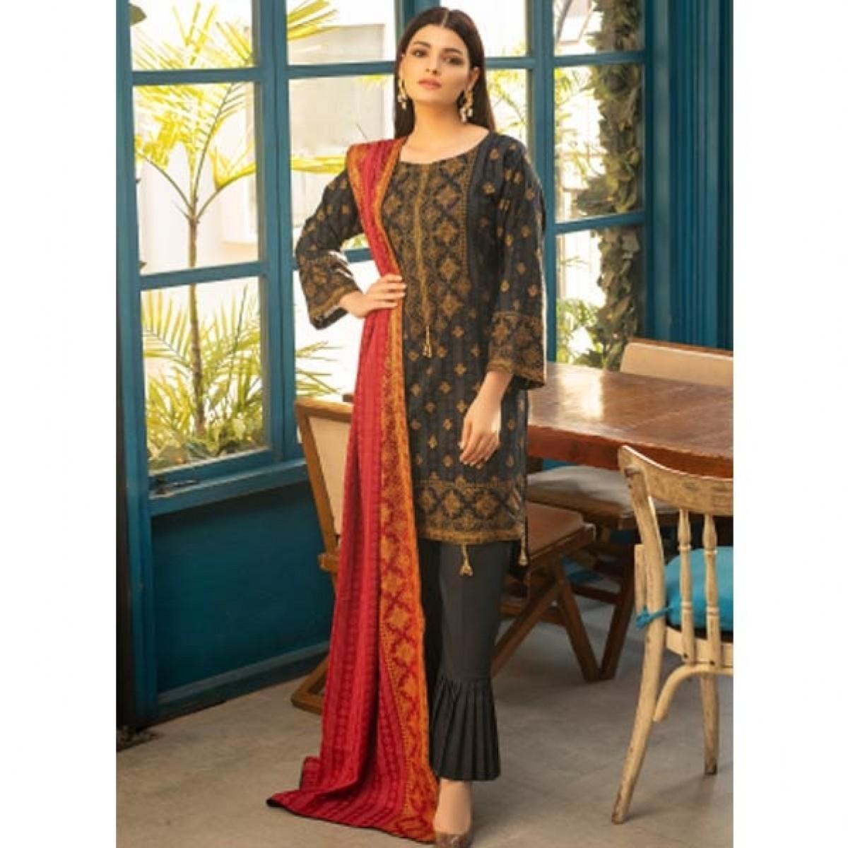 ZS Textiles Banarasi Printed Lawn Collection 3 Piece (B2)