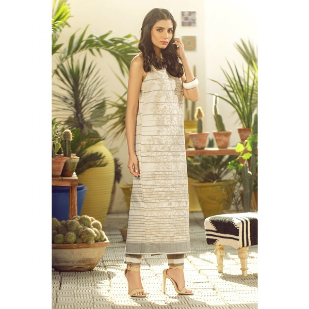 Al Karam Spring Summer Collection 2020 2 Piece (SS-21-20-Off White)