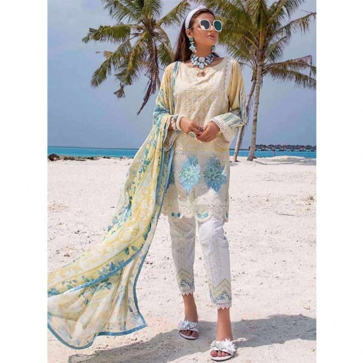 Zainab Chottani Luxury Lawn Collection 2020 3 Piece Echanted Bliss (01A)