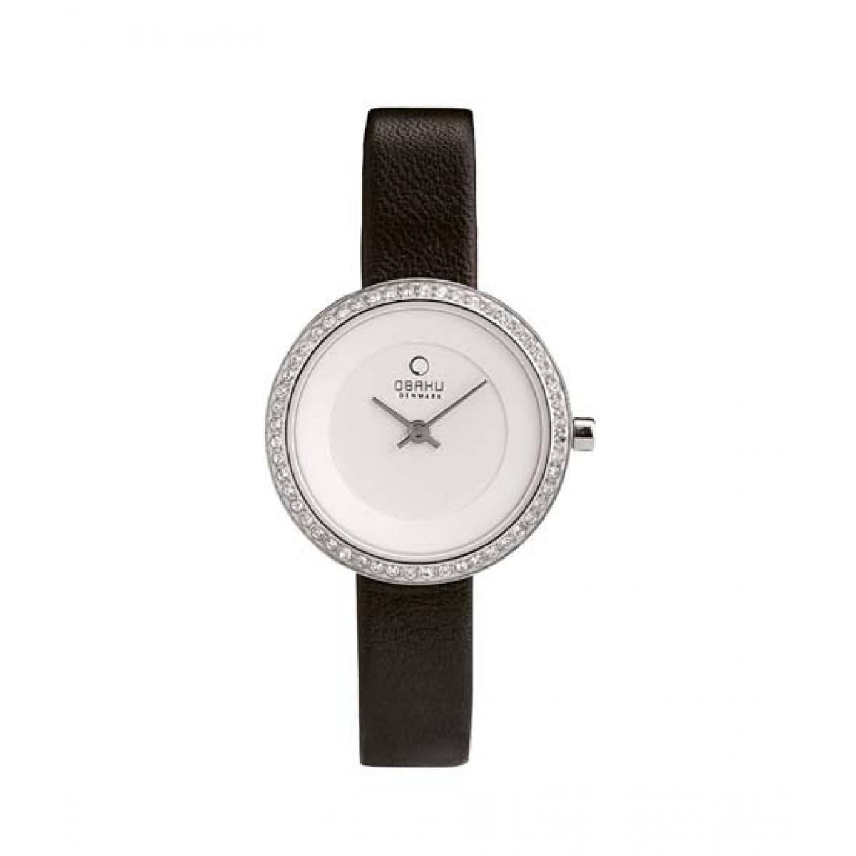 Obaku Quartz Women's Watch Black (V146LECIRB)