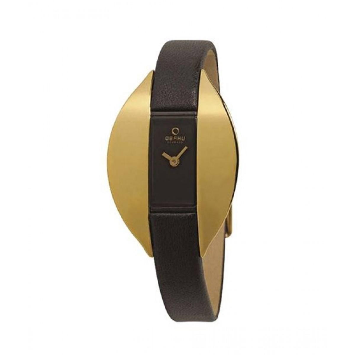 Obaku Quartz Women's Watch Black (V155LABRBH1)