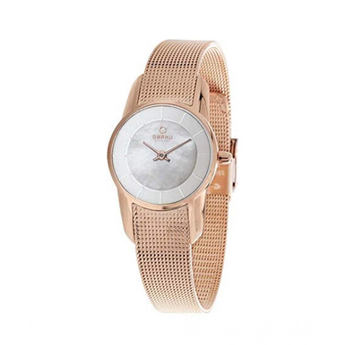 Obaku Quartz Women's Watch Rose Gold (V130LXVWMV)