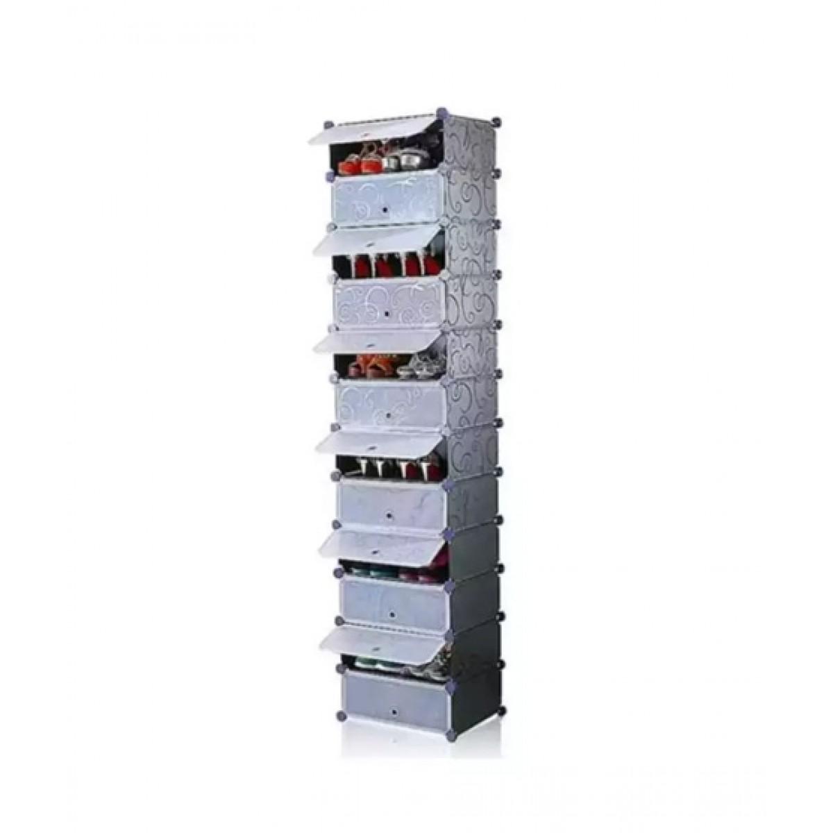 Oddity Tier Storage Cabinet Shoe Rack Black (ODD-12TSCSR-BLK)