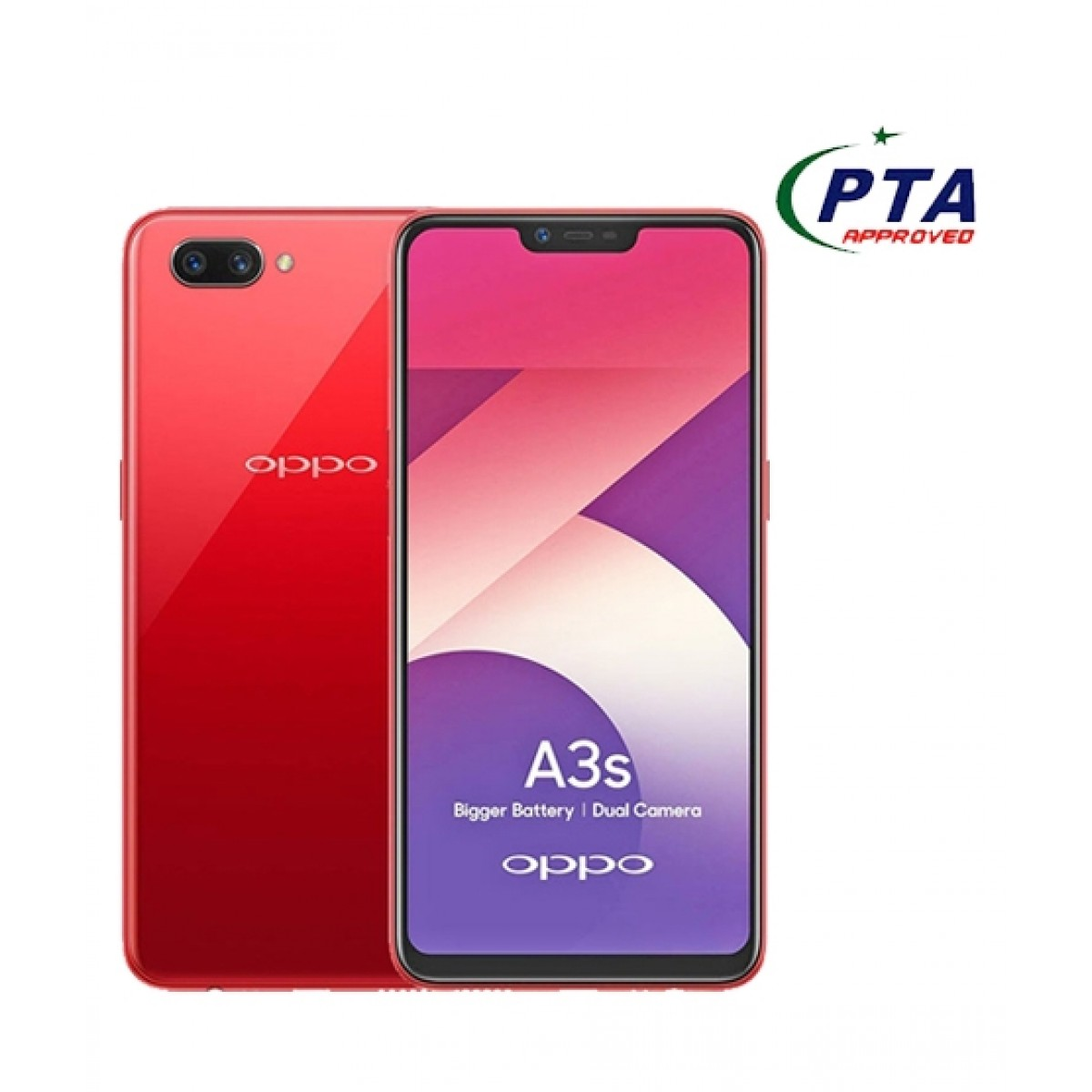 Oppo A3s 16GB Dual Sim Red