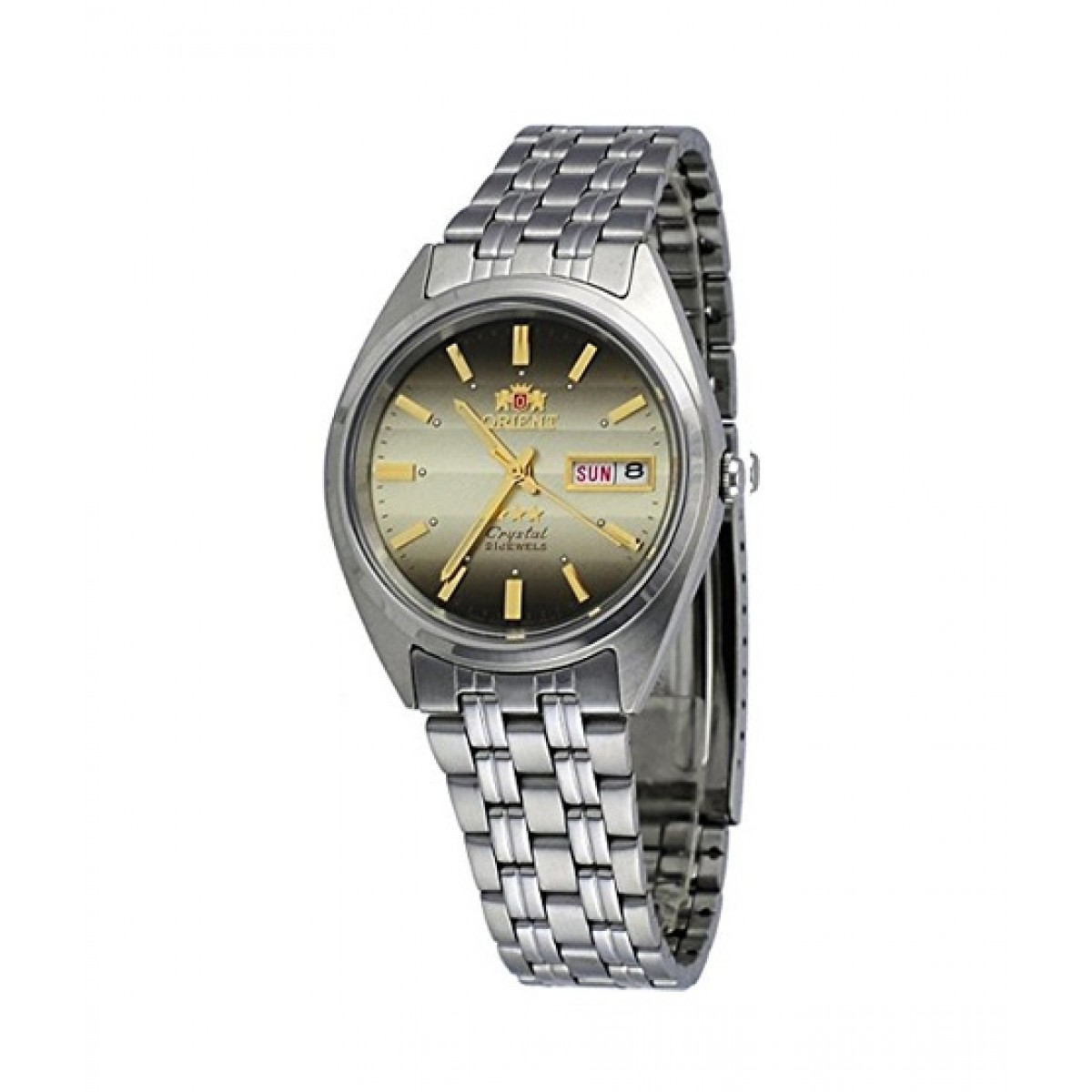 Orient Day Date Automatic Men's Watch Silver (FAB0000DU)