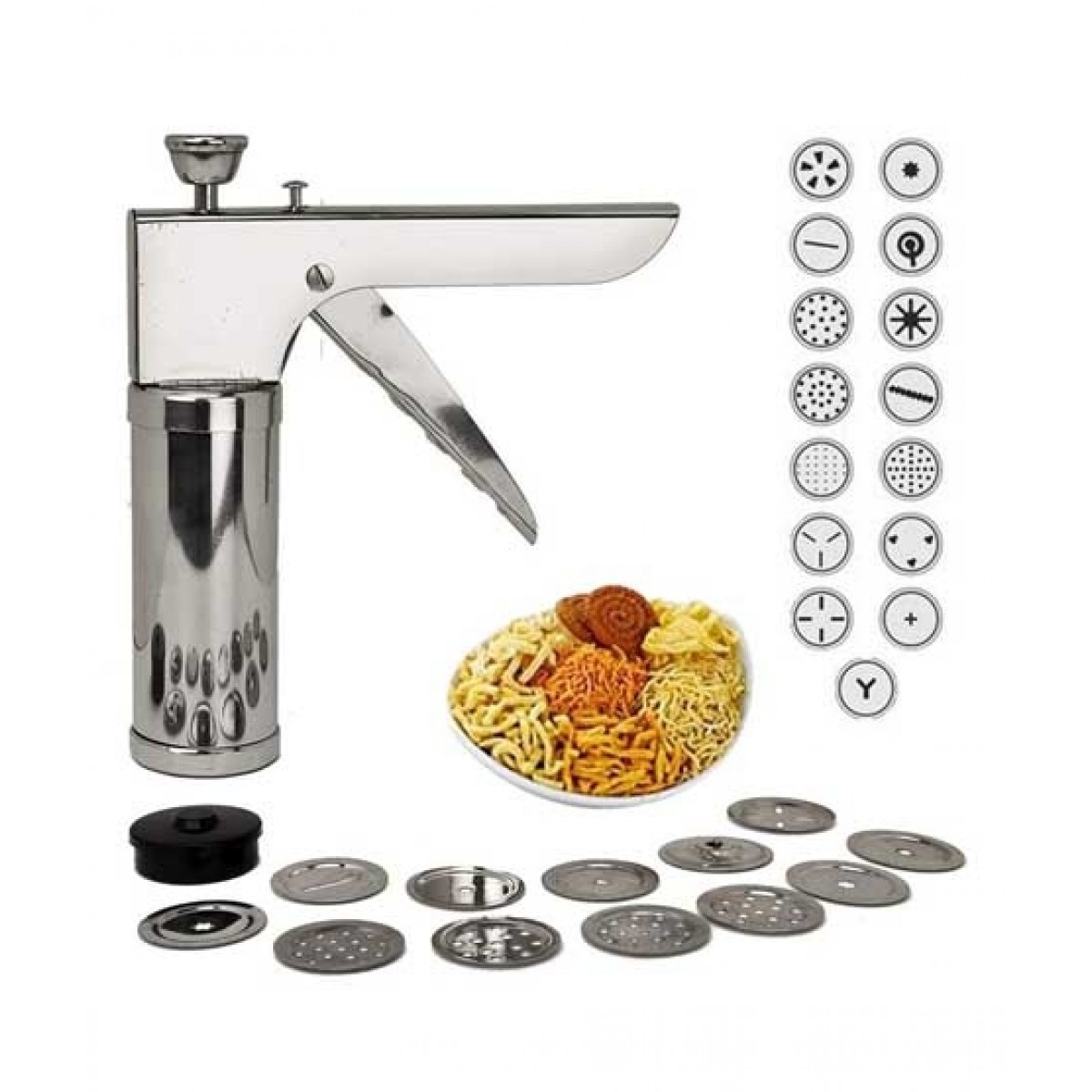 ORO Store Press Nimco Snack Maker with 15 Jalies