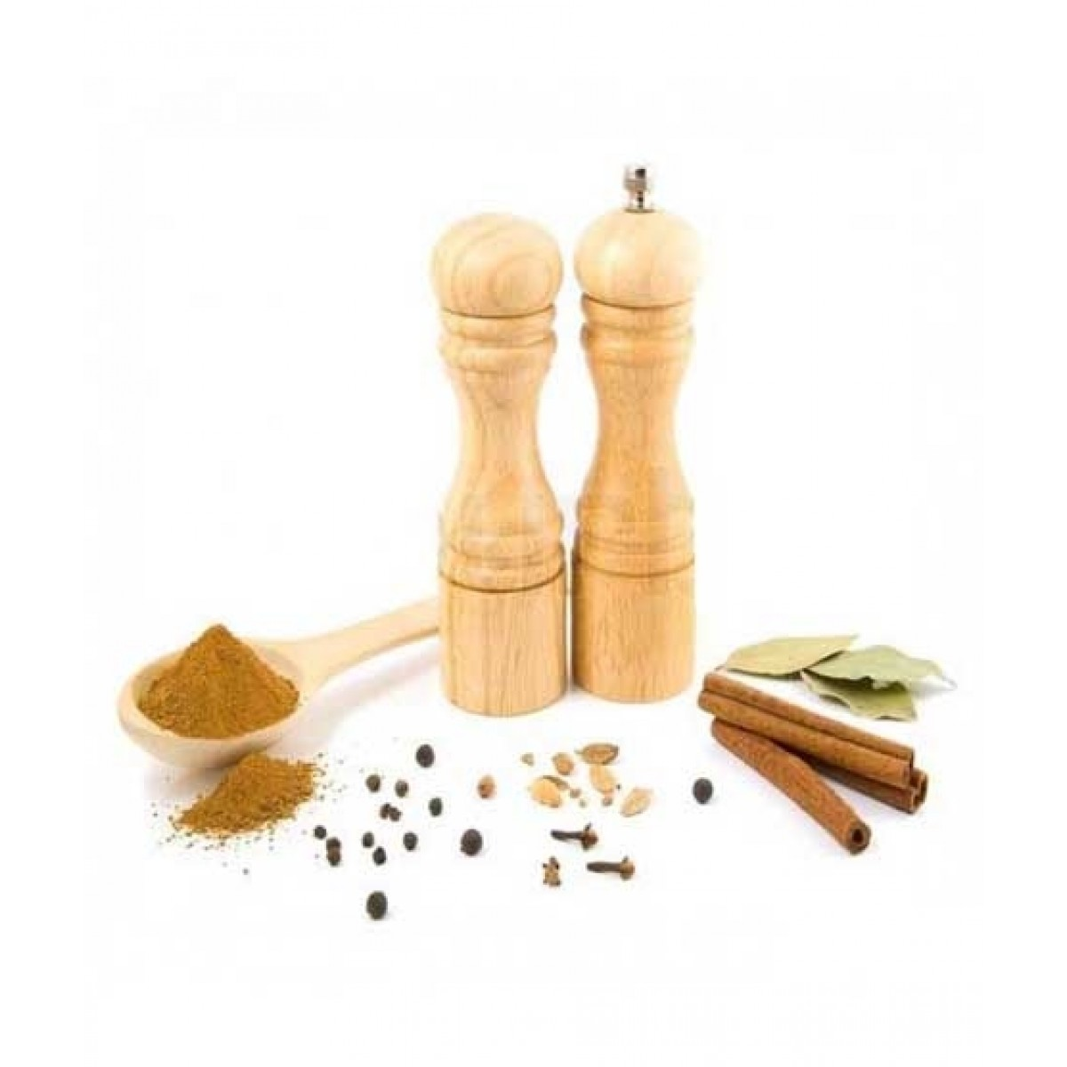ORO Store Wooden Pepper Mill & Salt Shaker - Pack Of 2