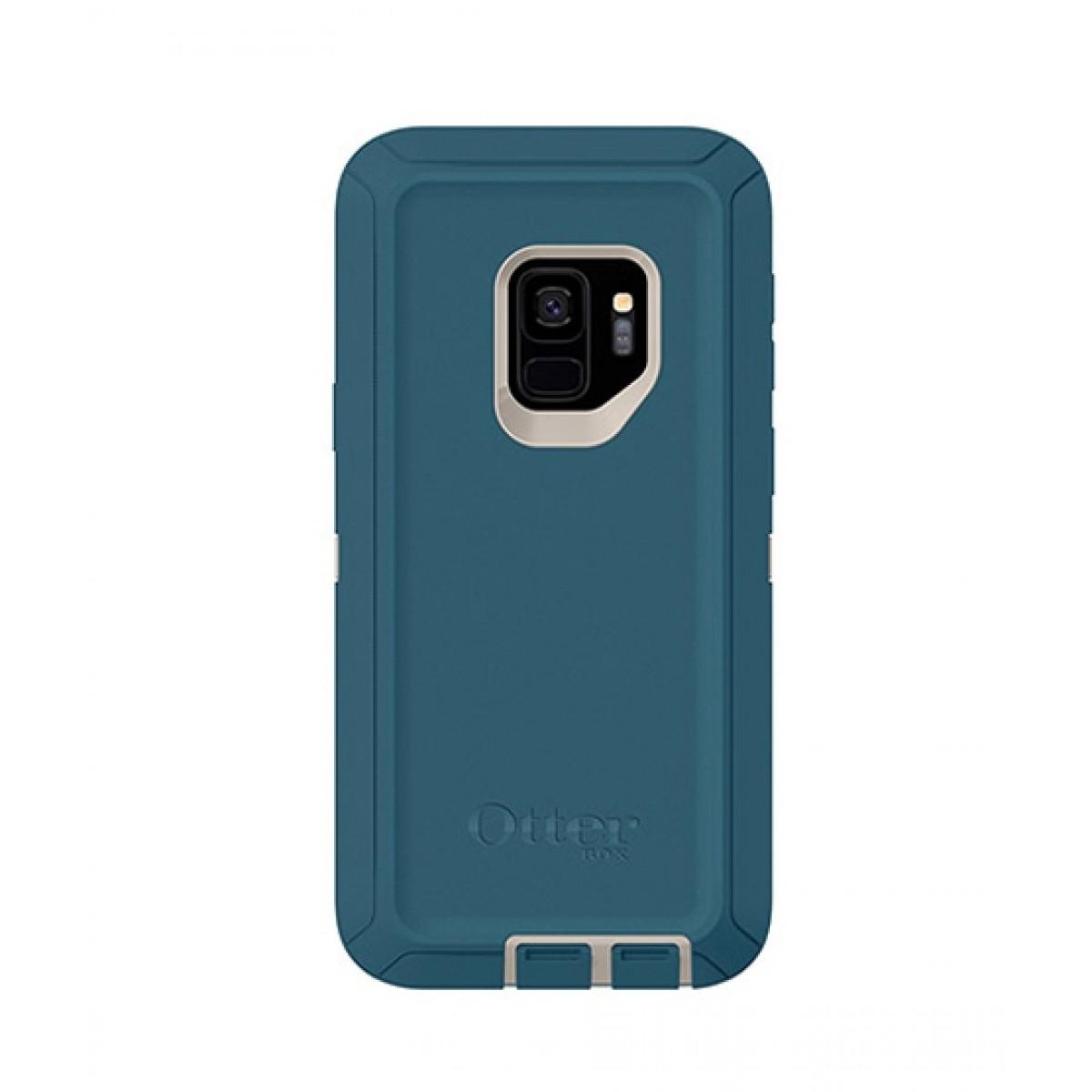 half off 36ecf 54d7c OtterBox Defender Series Screenless Big Sur Blue Case For Galaxy S9