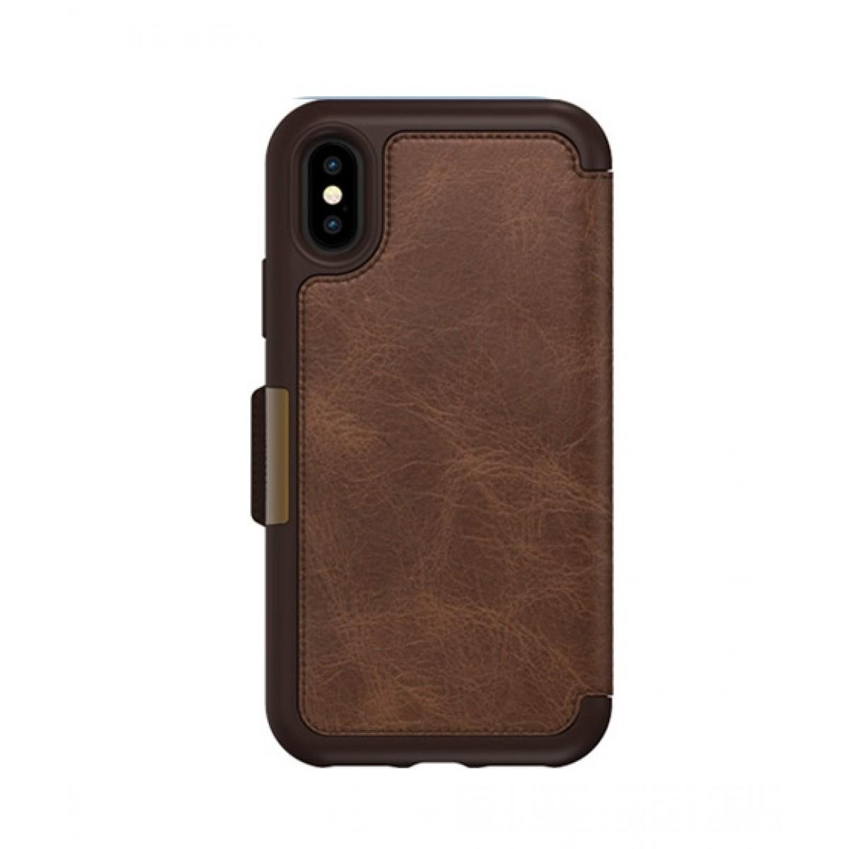 the best attitude c8ebf 1a501 OtterBox Strada Series Folio Espresso Case For iPhone X/XS