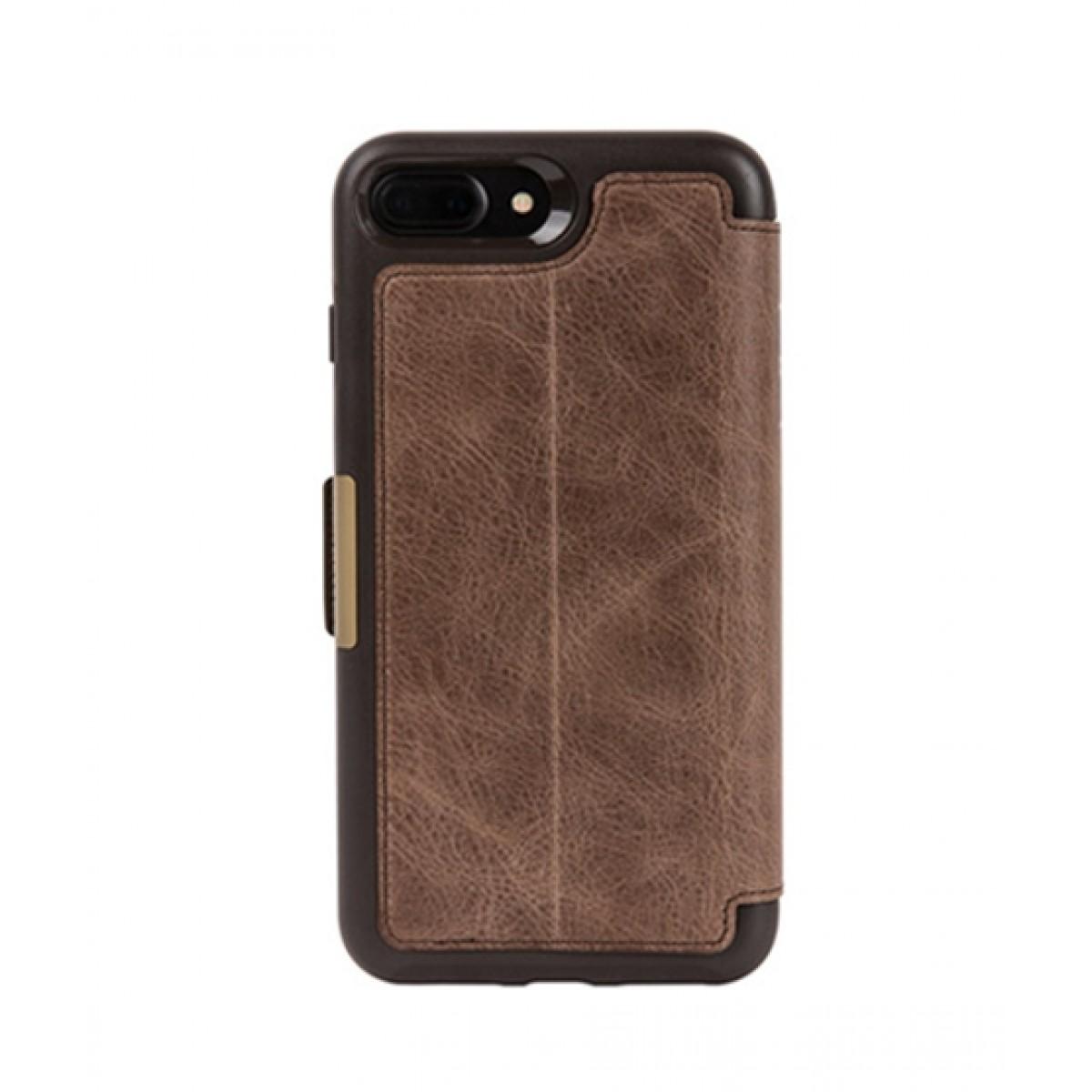 cheap for discount 84355 90f4d OtterBox Strada Series Leather Folio Espresso Case For iPhone 8 Plus